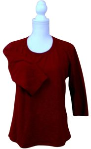 Coldwater Creek T Shirt Maroon