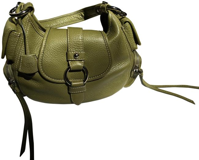 Item - Shoulder Bag Satchel/Shoulder Lime Green Pebble Leather Satchel