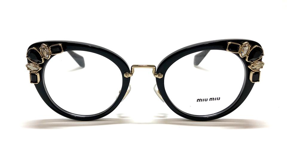 7d18a8365ac Miu Miu Free 3 Day Shipping VMU 05P 1AB101 50mm New Oversized Cat Eye  Glasses .