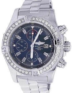 Breitling Custom Mens A13370 Super Avenger XL 48MM Diamond Watch 4.5 Ct