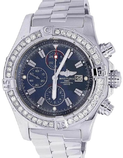 Preload https://img-static.tradesy.com/item/23277852/breitling-stainless-steel-custom-mens-a13370-super-avenger-xl-48mm-diamond-45-ct-watch-0-1-540-540.jpg
