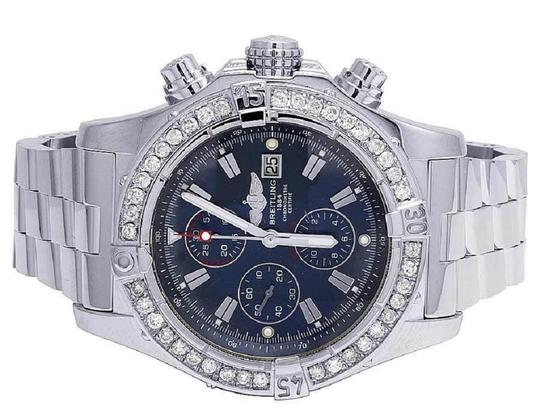Breitling Custom Mens A13370 Super Avenger XL 48MM Diamond Watch 4.5 Ct Image 1