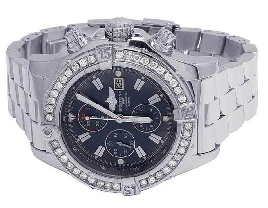 Breitling Custom Mens A13370 Super Avenger XL 48MM Diamond Watch 4.5 Ct Image 4