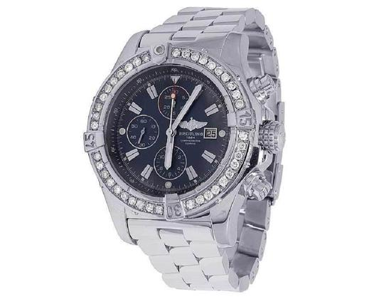 Breitling Custom Mens A13370 Super Avenger XL 48MM Diamond Watch 4.5 Ct Image 5