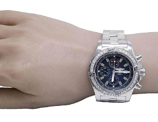 Breitling Custom Mens A13370 Super Avenger XL 48MM Diamond Watch 4.5 Ct Image 6