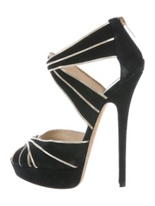 Jimmy Choo Suede Elegant Black Sandals