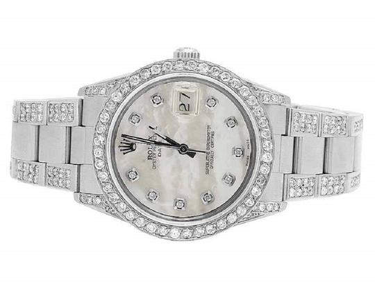Preload https://img-static.tradesy.com/item/23277944/rolex-stainless-steel-date-1501-oyster-pepetual-34mm-white-mop-dial-diamond-95-ct-watch-0-0-540-540.jpg