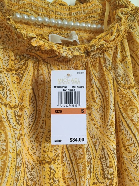 MICHAEL Michael Kors Mk Top Golden Yellow Paisley Image 3