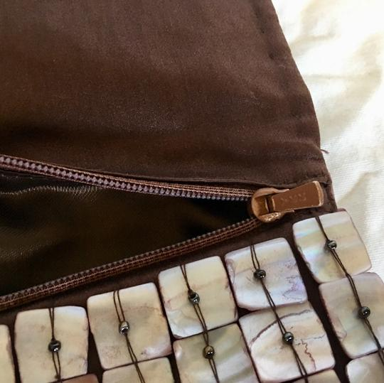 Moyna white and brown Clutch Image 4