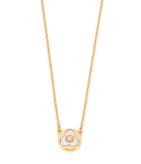 Preload https://img-static.tradesy.com/item/23278149/henri-bendel-gold-new-pave-petal-pendant-necklace-0-0-540-540.jpg
