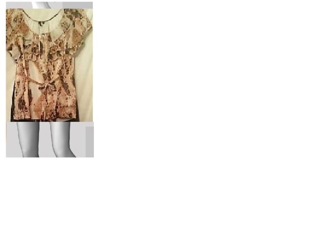 Private Label by G Top cheetah print off white,gold,brown,black Image 1