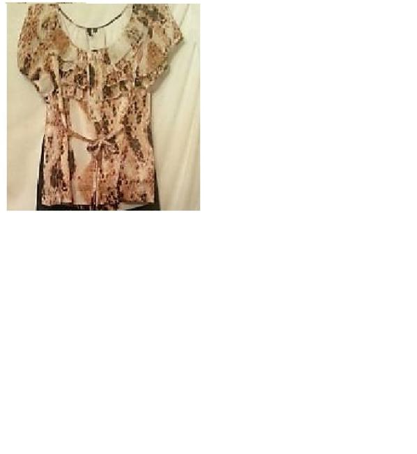 Private Label by G Top cheetah print off white,gold,brown,black Image 2