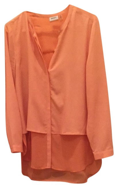 Preload https://item5.tradesy.com/images/dkny-peach-blouse-size-8-m-2327824-0-0.jpg?width=400&height=650