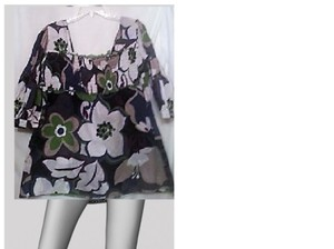 Other Top purple white/green/black