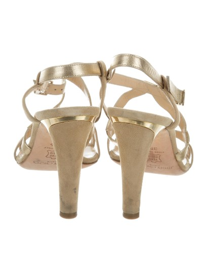 Jimmy Choo Strappy 8.5 Multistrap Gold Sandals Image 1