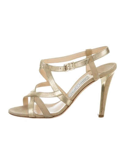 Jimmy Choo Strappy 8.5 Multistrap Gold Sandals Image 2