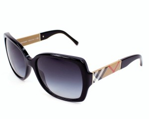 392ee15cba4c Burberry Burberry Sunglasses BE 4160 3433/8G Black Sunglasses Brand New