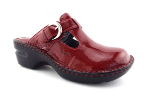 B.O.C. New Born Dark Red Mules