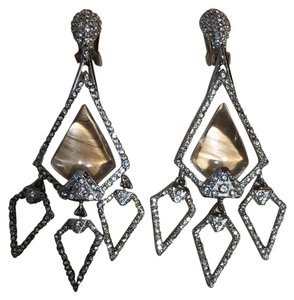 Alexis Bittar gold and lucite chandelier earrings