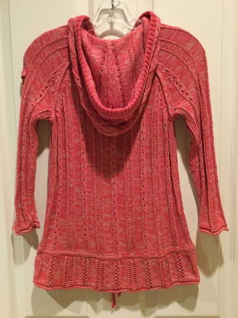 DKNY Jeans Knitted Hooded Cotton Blend Sweater Image 1