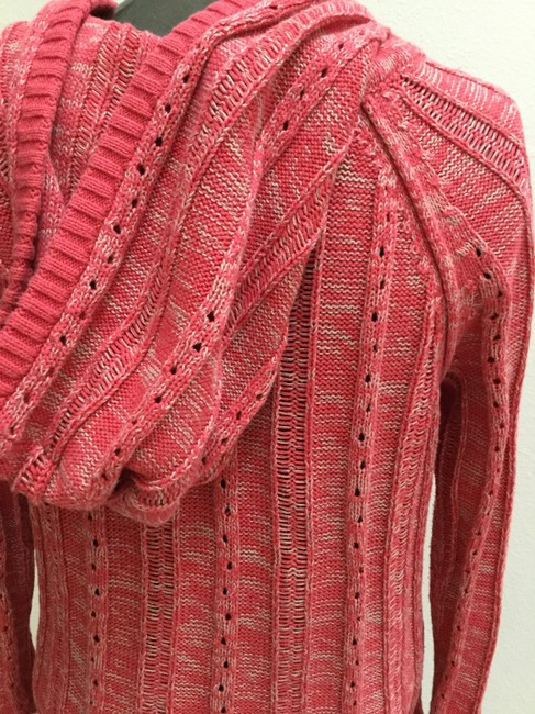 DKNY Jeans Knitted Hooded Cotton Blend Sweater Image 4