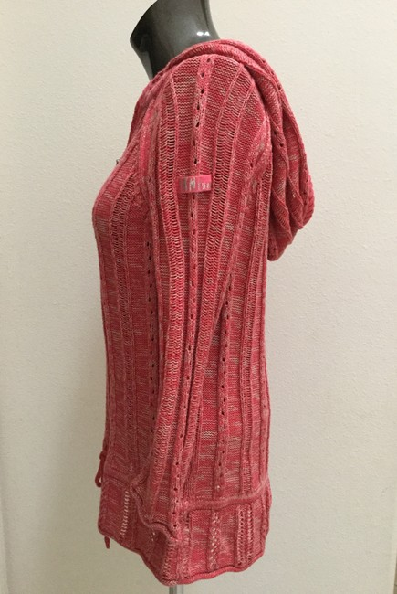 DKNY Jeans Knitted Hooded Cotton Blend Sweater Image 6