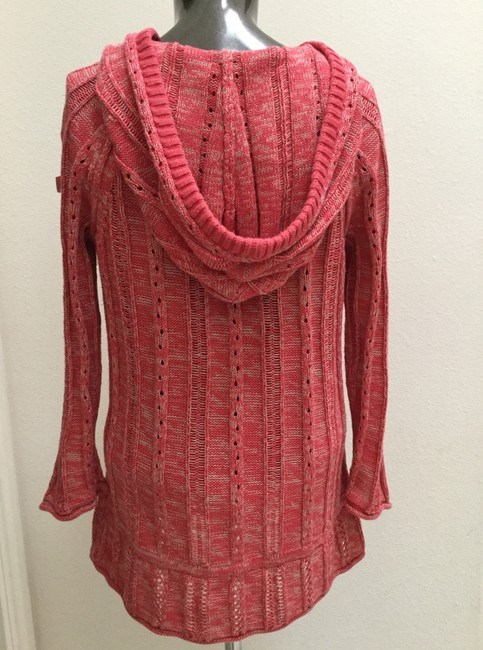 DKNY Jeans Knitted Hooded Cotton Blend Sweater Image 7