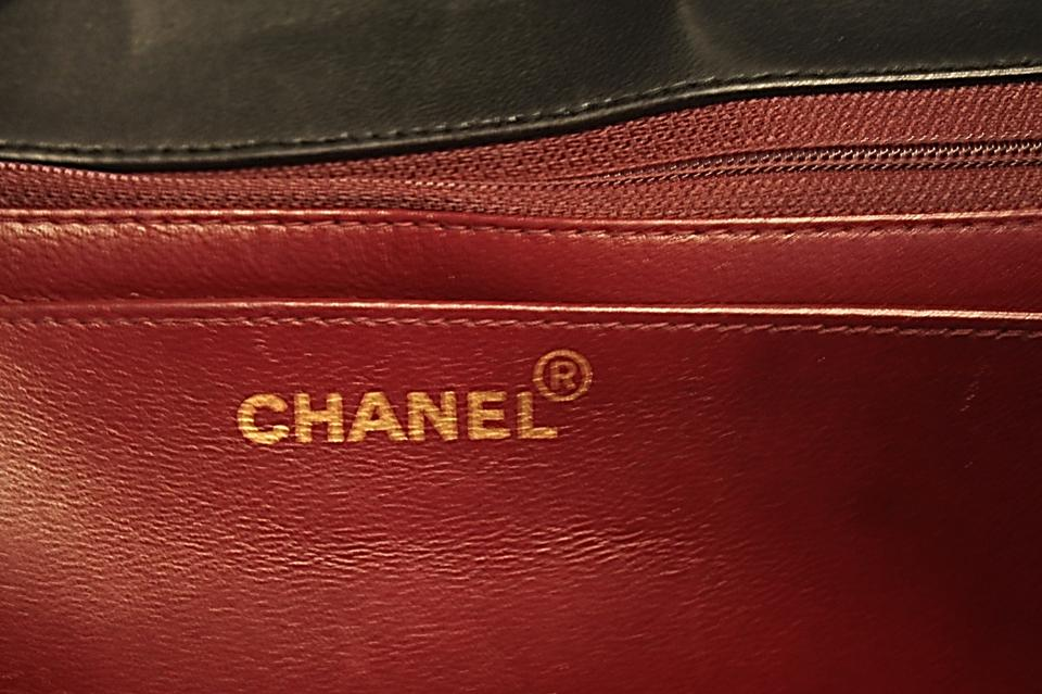 1ca3db28a85b7f Chanel Classic Flap Rare Vintage Jumbo Tortoise Strap & Cc 1980s Black  Lambskin Leather Shoulder Bag - Tradesy