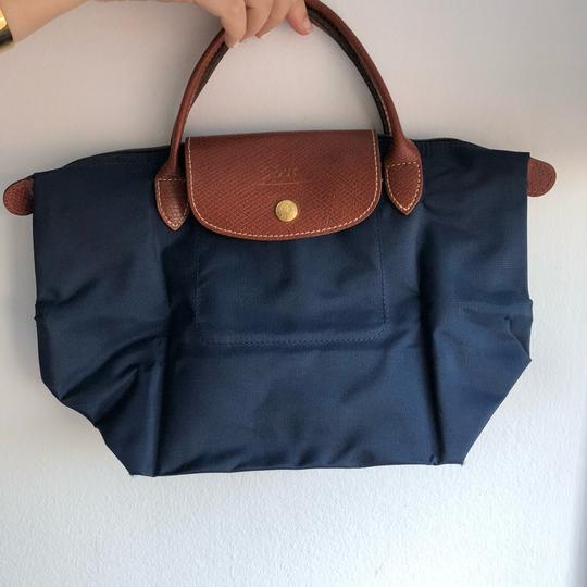 Longchamp Satchel in Navy Image 2