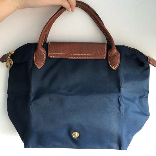 Longchamp Satchel in Navy Image 3