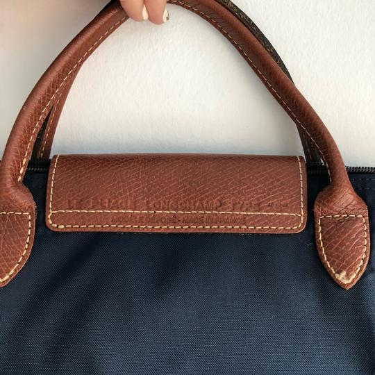 Longchamp Satchel in Navy Image 4