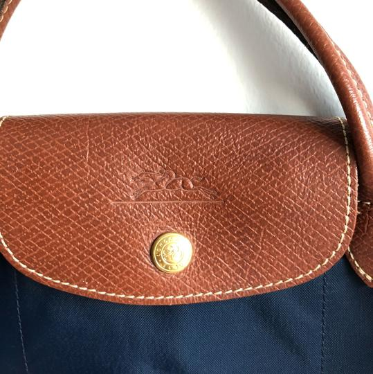 Longchamp Satchel in Navy Image 5