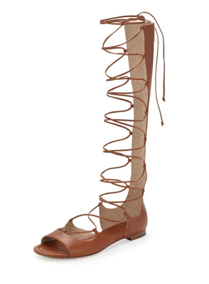 b134f4278a5c Michael Kors Brown Birdie Tall Lace Up Sandals Size EU 38 (Approx ...