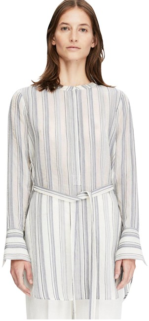 Preload https://img-static.tradesy.com/item/23278675/theory-stripe-belted-tunic-blouse-size-4-s-0-1-650-650.jpg