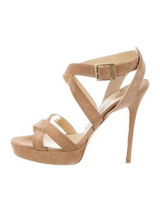6aa6cfdcfaee Beige Jimmy Choo Sandals - Up to 90% off at Tradesy