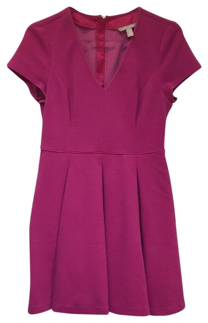 Item - Fuchsia Knit Fit and Flare Short Work/Office Dress Size 10 (M)
