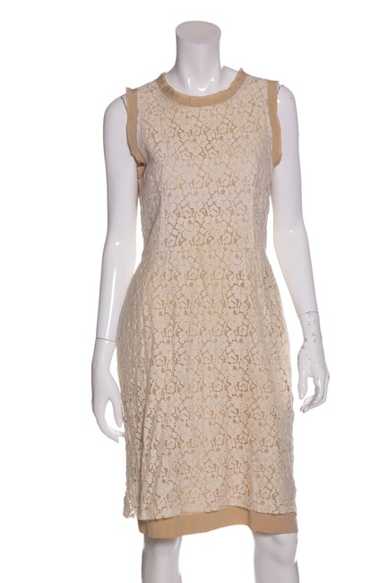 Preload https://img-static.tradesy.com/item/23278815/dolce-and-gabbana-cream-sleeveless-lace-back-zip-mid-length-short-casual-dress-size-os-one-size-0-0-650-650.jpg