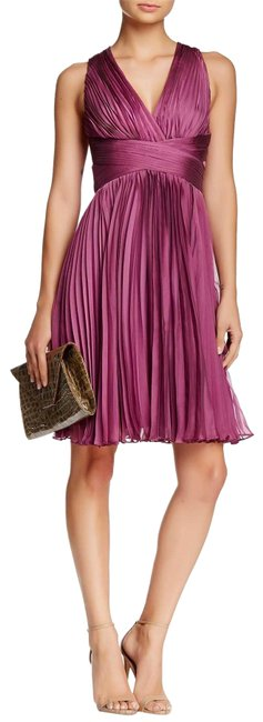 Item - Orchid Halter Accordion Pleated Short Cocktail Dress Size 12 (L)