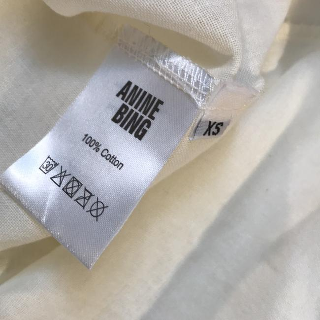 ANINE BING Lace Trim Cotton Button Down Longsleeve Top ivory Image 3