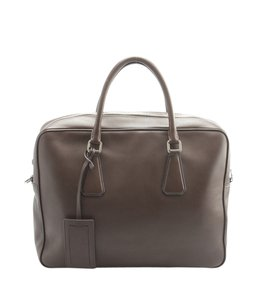 Prada Prada 2VE305 Brown Leather Briefcase (148162)