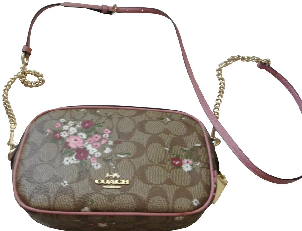 ab64a04c39af Coach Isla Chain Signature Multicolor Coated Canvas Cross Body Bag ...