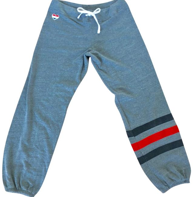 Item - Grey Red Black Blue Classic Sweats with Heart Embroidery and Stripes Activewear Bottoms Size 4 (S)
