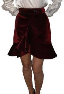 self-portrait Mini Skirt burgundy