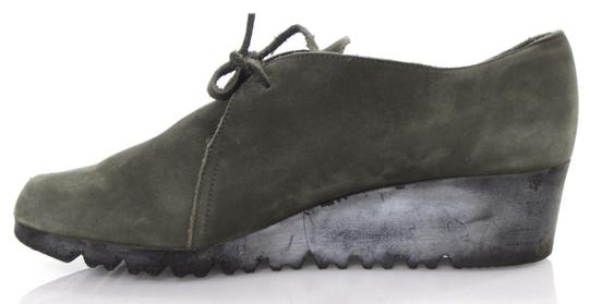 Arche Lace Up Low Heel Demi Wedge Moccasin Green Boots Image 2