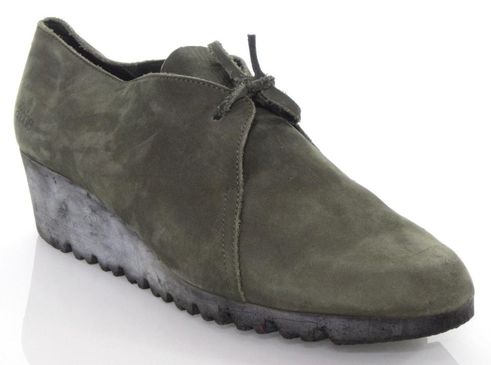 a937d4619bdba Arche Green Sage Nubuck Leather Lace Up Moccasin Low Wedge Fr41  Boots/Booties Size US 10 Regular (M, B) 78% off retail