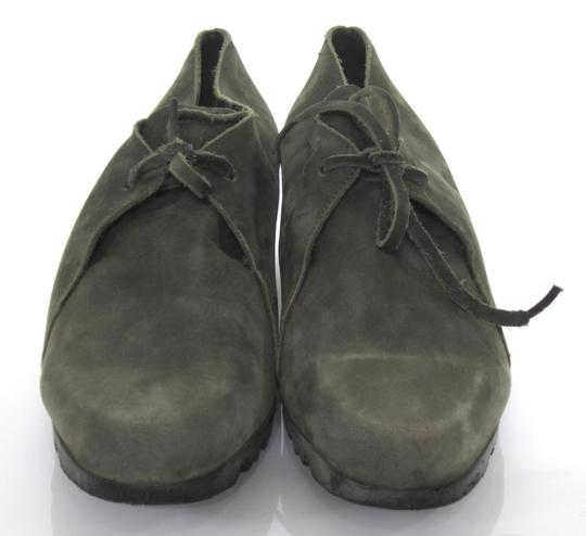 Arche Lace Up Low Heel Demi Wedge Moccasin Green Boots Image 4