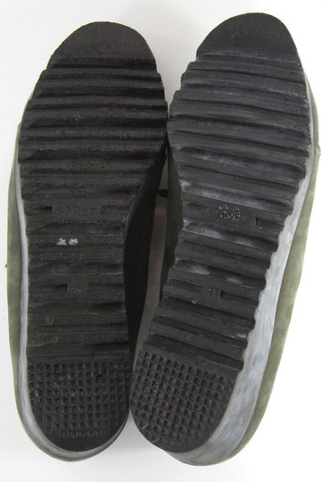 Arche Lace Up Low Heel Demi Wedge Moccasin Green Boots Image 5
