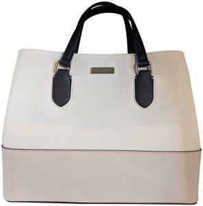 Kate Spade Summer Leather Classic Trend Tote in cement /ocean blue