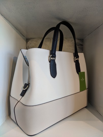 Kate Spade Summer Leather Classic Trend Tote in cement /ocean blue Image 1