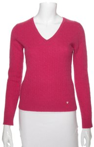 Geneva Cashmere 2 Ply Bright Cable Knit Sweater